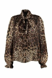 Dolce & Gabbana Printed Blouse With Wrinkles