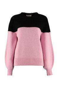 Alexander McQueen Color-block Cashmere Sweater