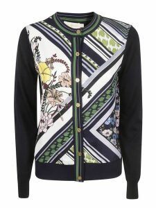 Tory Burch Flower Print Cardigan