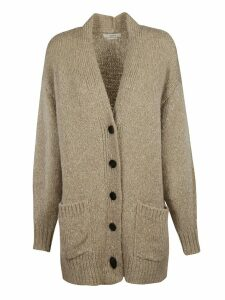 Isabel Marant V-neck Side Patch Long Buttoned Cardigan