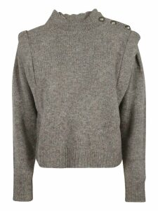 Isabel Marant Embellished Detail Cropped Jumper
