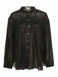 Isabel Marant Pleated Ruffled Collar Shirt