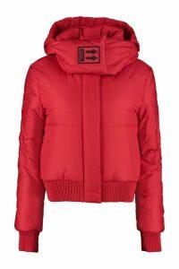 Off-White Full Zip Padded Hooded Jacket