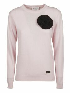 Be Blumarine Chest Floral Detail Jumper