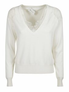 Be Blumarine V-neck Laced Jumper