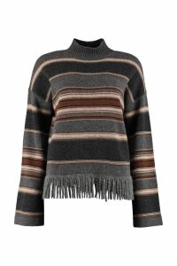 Weekend Max Mara Amico Striped Turtleneck Sweater