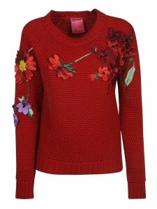 Blumarine Floral Appliques Sweater