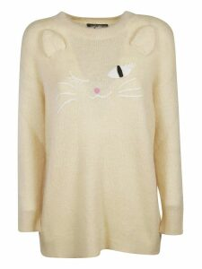 Moschino Embroidered Cat Sweater