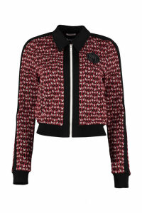 Miu Miu Full-zip Knitted Sweatshirt