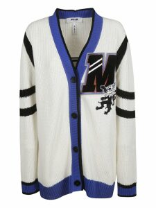 MSGM V-neck Patched Cardigan