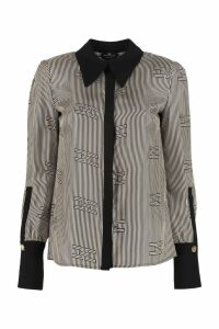 Elisabetta Franchi Celyn B. Long-sleeved Silk Shirt