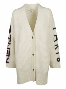 Kenzo Sleeve Logo Print Buttoned Cardigan