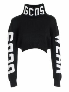 GCDS Sweater L/s Logo On Neck