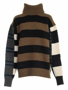 Colville Sweater L/s High Neck W/stripes
