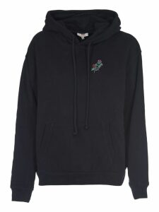 Levis Black Sweatshirt With Floreal Embroidery