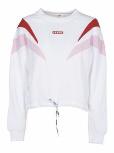 Levis White Color Block Sweatshirt