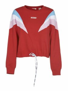 Levis Red Color Block Sweatshirt