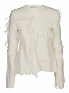 Stella McCartney Asymmetric Fringed Sweater