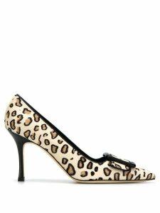 Manolo Blahnik Maysale leopard print pumps - NEUTRALS