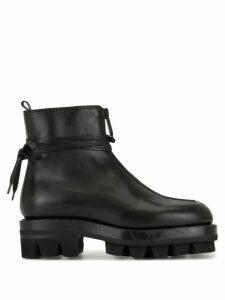 1017 ALYX 9SM ridged rubber sole boots - Black