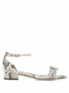Alexandre Birman snakeskin effect sandals - Brown