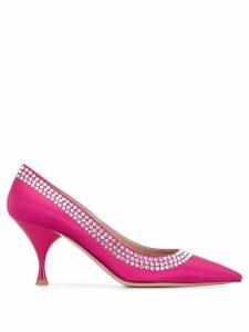 Miu Miu embellished heeled pumps - PINK