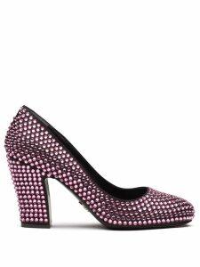 Prada crystal embellished pumps - Pink
