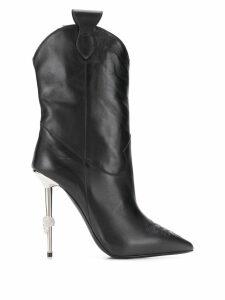 Philipp Plein pointed stiletto boots - Black