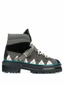 Bally argyle high-top sneakers - Black