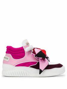 Emilio Pucci colourblock hi-top sneakers - Pink