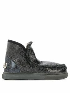 Mou knitted detail sneaker boots - Black