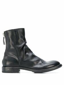 Moma wrinkled ankle boots - Black
