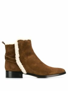 Parallèle shearling ankle boots - Brown