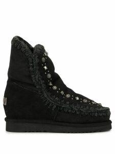 Mou embellished stud boots - Black