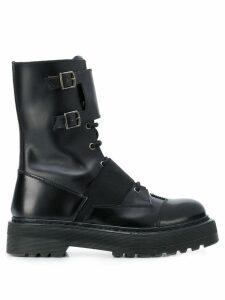 Premiata buckle detail boots - Black