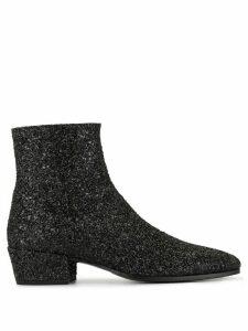 Saint Laurent glitter ankle boots - Black