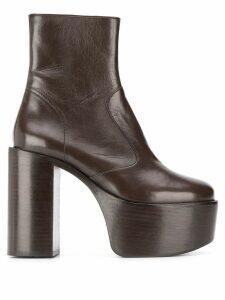 Simon Miller platform ankle boots - Brown