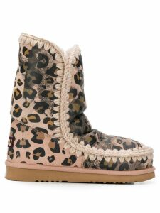 Mou animal print Eskimo boots - PINK