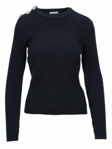 Ganni Embellished Knitted Sweater