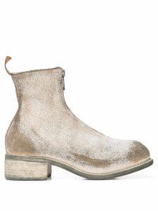 Guidi distressed boots - White