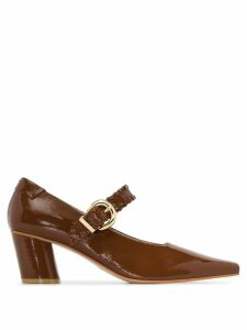 Reike Nen patent Mary Jane 60mm pumps - Brown