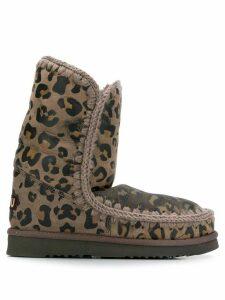 Mou animal print Eskimo ankle boots - Neutrals
