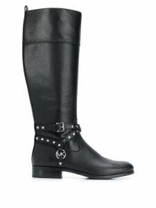 Michael Michael Kors studded knee-high boots - Black