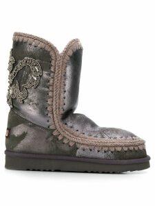 Mou Eskimo back patch boots - Grey