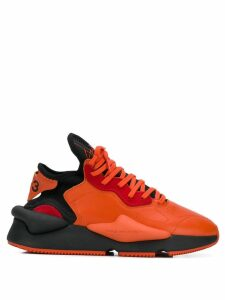 Y-3 appliqué detail sneakers - ORANGE