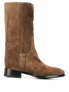 Santoni knee length boots - Brown