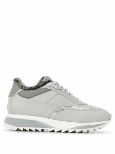 Santoni fur lining sneakers - Grey