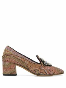 Etro paisley pumps - Brown