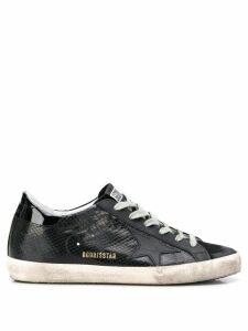 Golden Goose star patch low top sneakers - Black