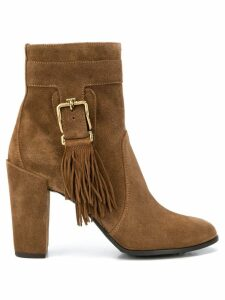 Tod's fringed ankle boots - Brown